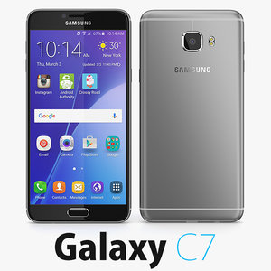 samsung galaxy c7 3d model