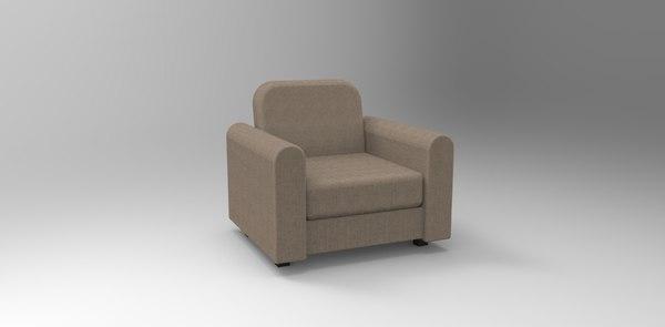 free obj mode armchair chair