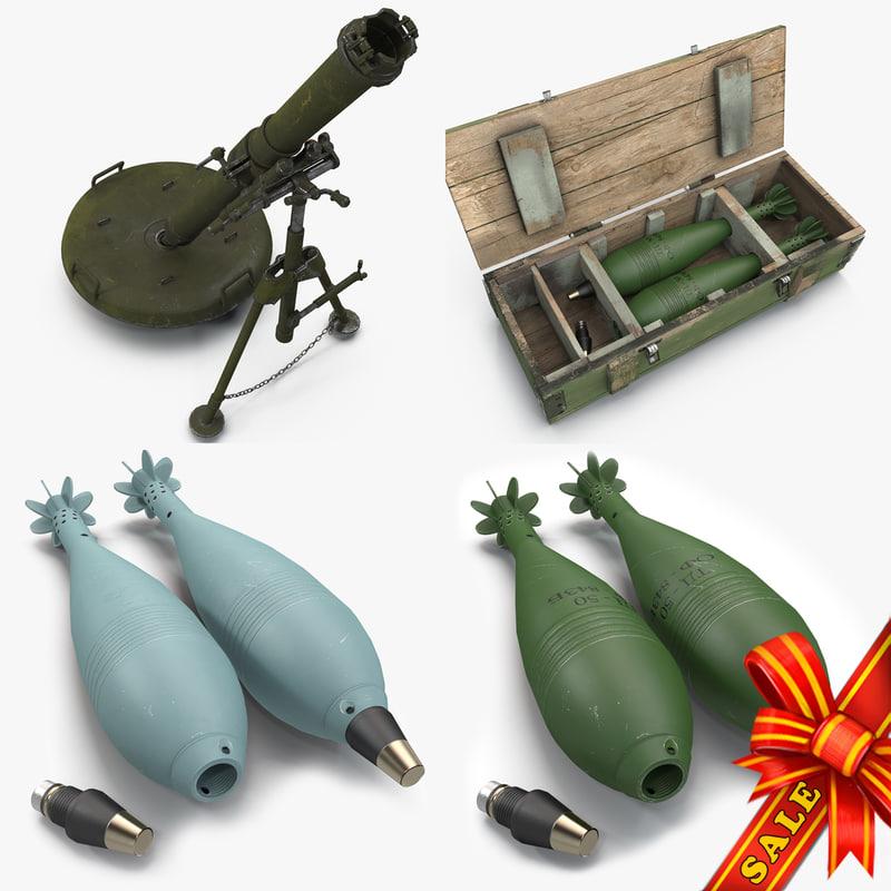mortars 120mm 2b11 3d max