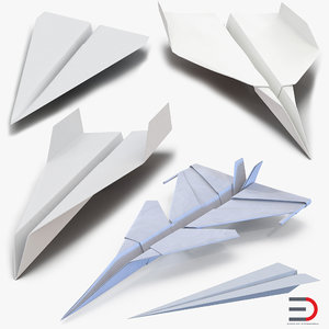 paper planes 2 3d model