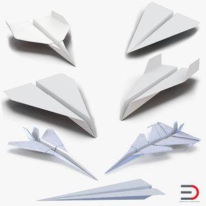 3d model of paper planes