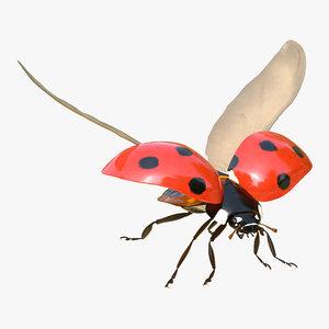 max flying ladybug rigged