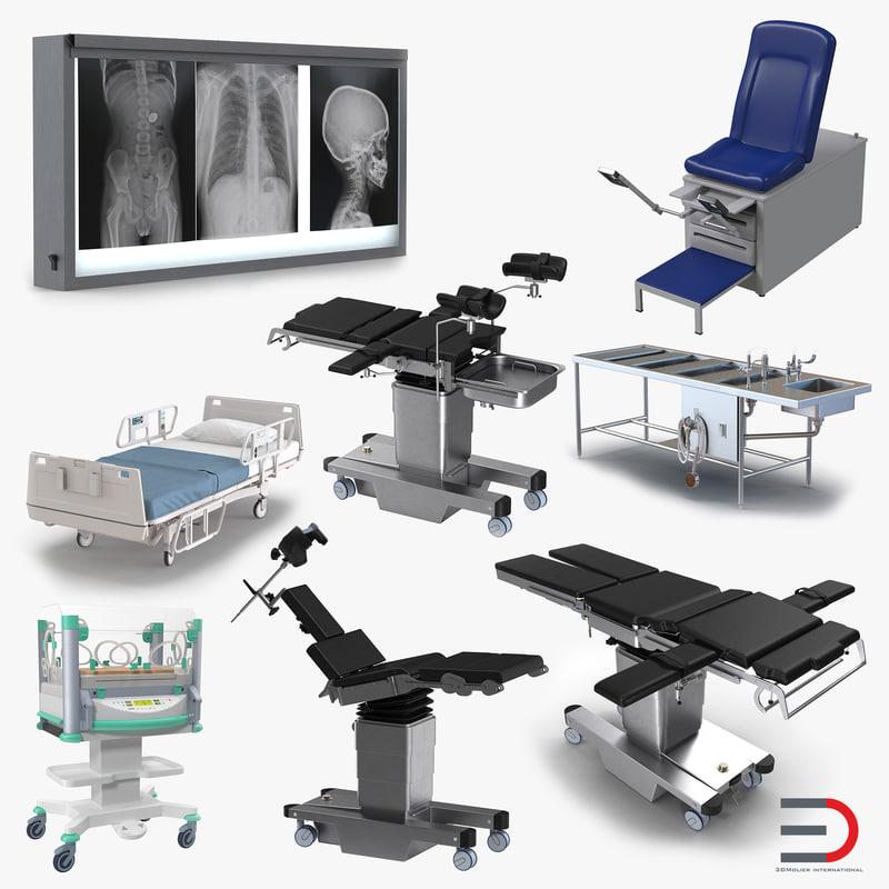 3d model medical equipment incubator