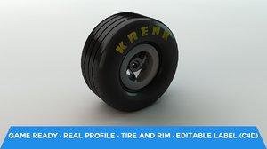 free rim tire wheel 3d model