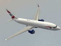 3d model of b 737-800 british airways