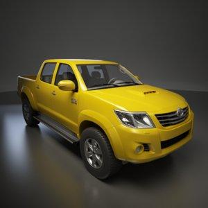 toyota hilux 2012 3d model