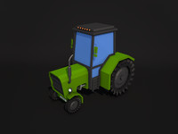 Low Poly Tractor