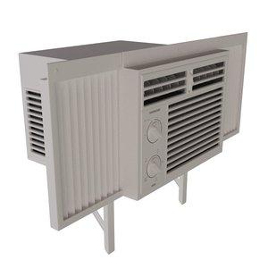 window air unit 3d max