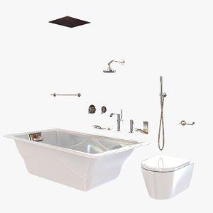 bathroom fixtures waterworks bathtub 3d model