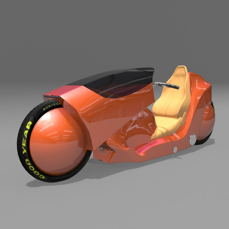 3d rigged motorcycle tire