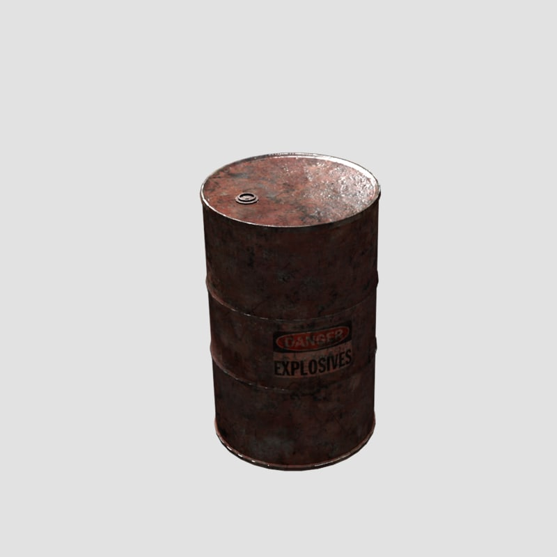 3d model rusty barrel ready games