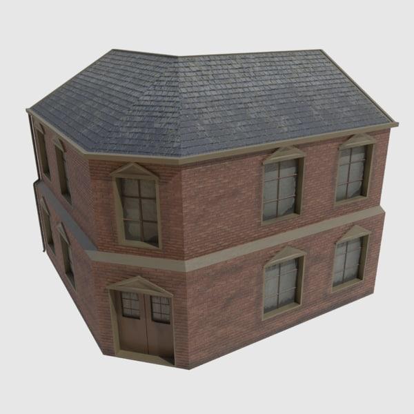 corner house 3d 3ds