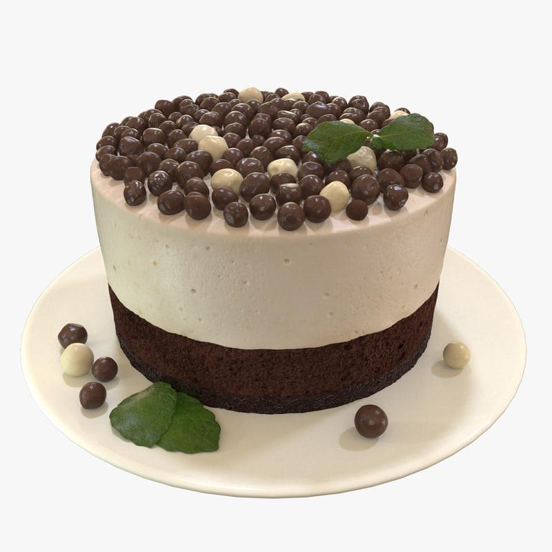 cake chocolate 3d max
