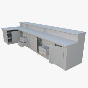 3d interactive kitchen bar counter model