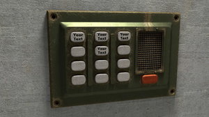 3d model of control panel switch