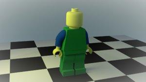 ready legoman 3d model