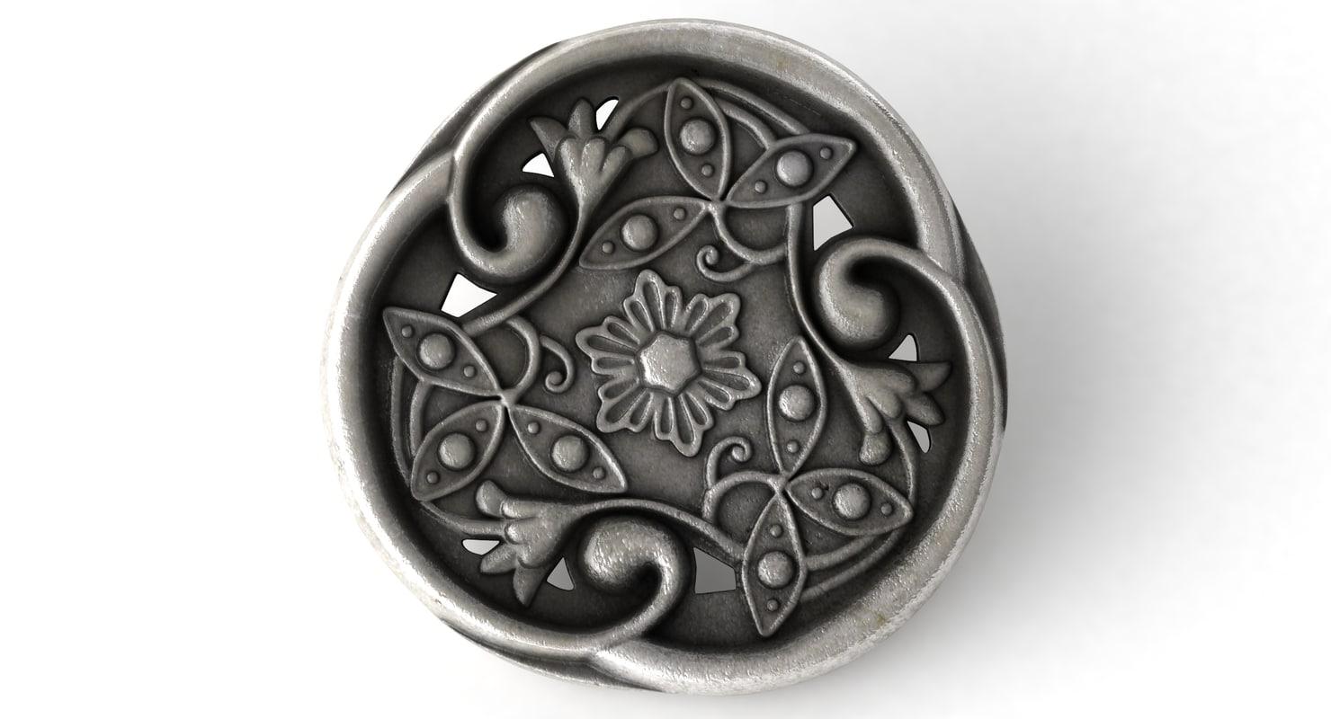 trileaf button 3d model