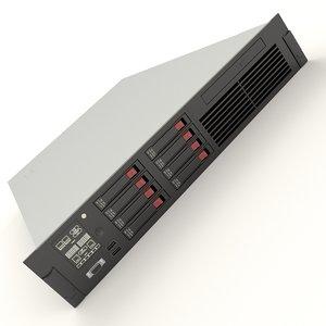 3d hp server model
