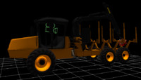 cat584 forwarder 3d model