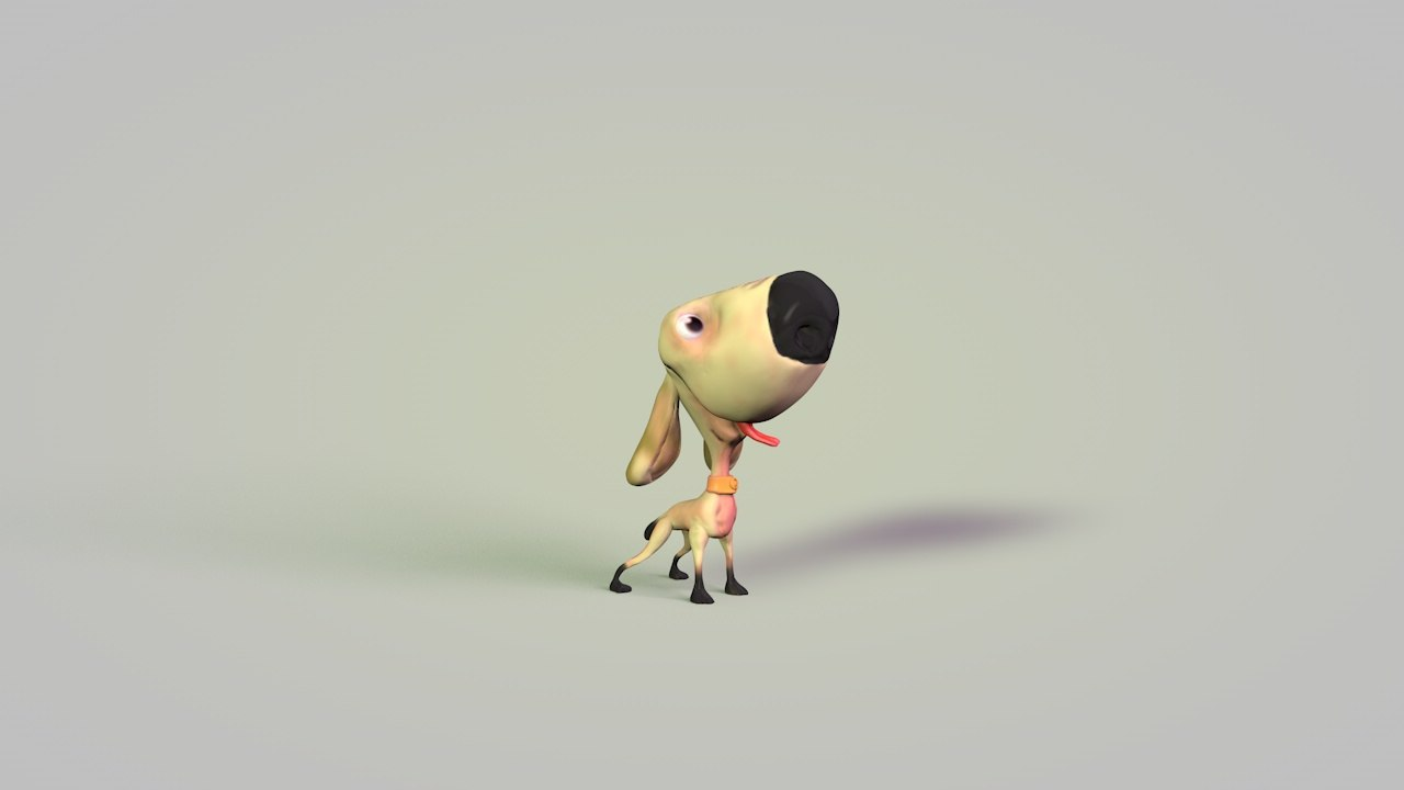free dog cartoon 3d model