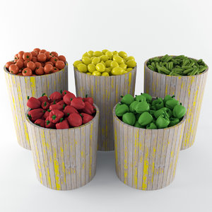 3d model vegetable baskets