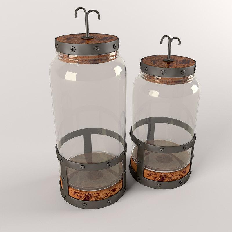 3d model bottle set 2-piece