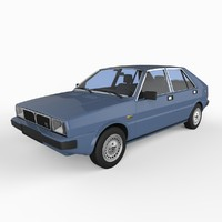 3d model of lancia delta 1979