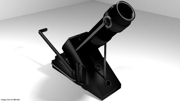 3d garland mortar model