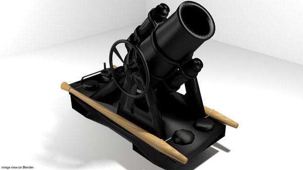 3d minenwerfer mortar model