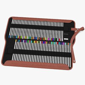 3d model pencil box