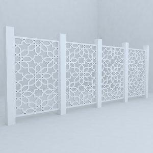 3d fence railing