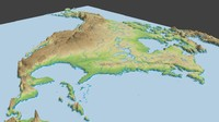 North America surface low poly