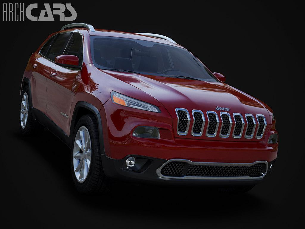 jeep cherokee 3d max