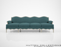 3d model hutton collections ensuite sofa