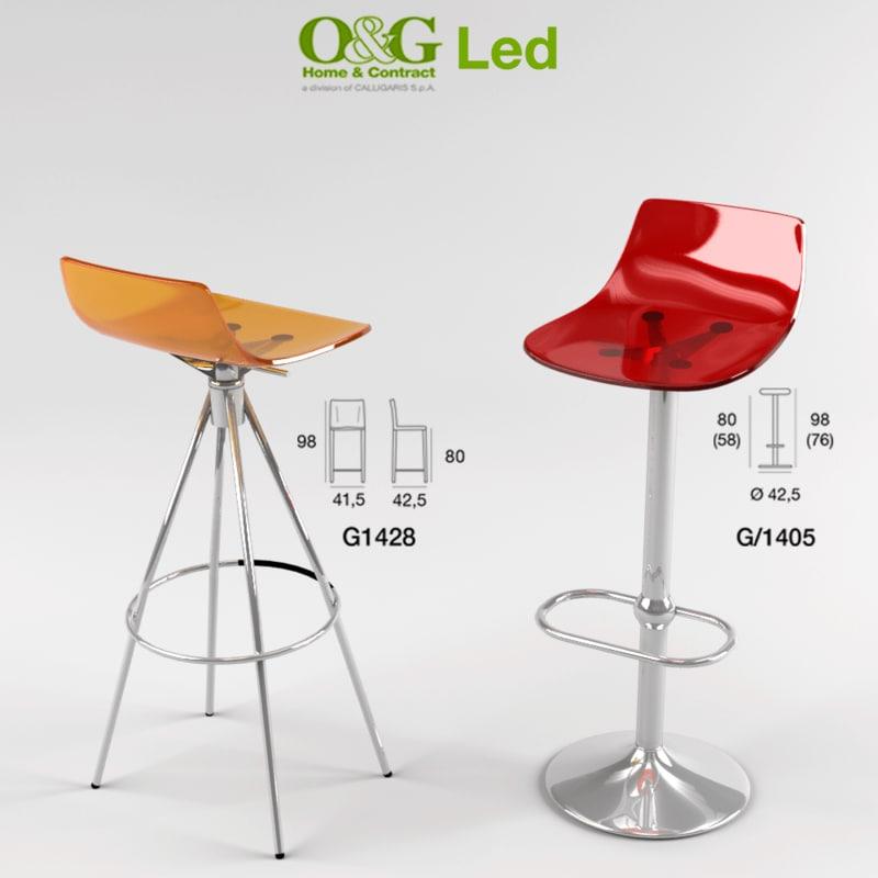 led stool 3ds