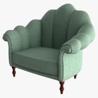 3d fabric armchair model