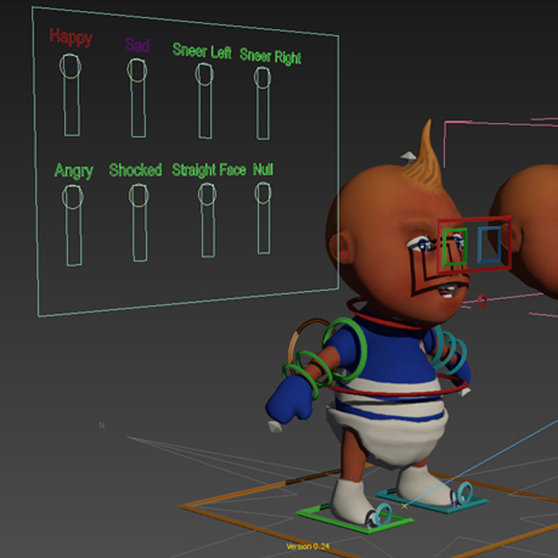3d rigged baby
