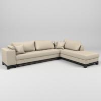 nogersund ikea sofa 3d model