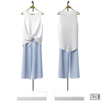 3d fbx woman clothes hanger