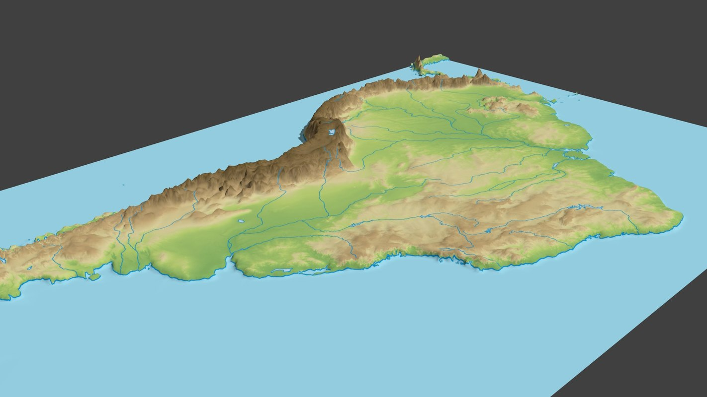 3d model of south america