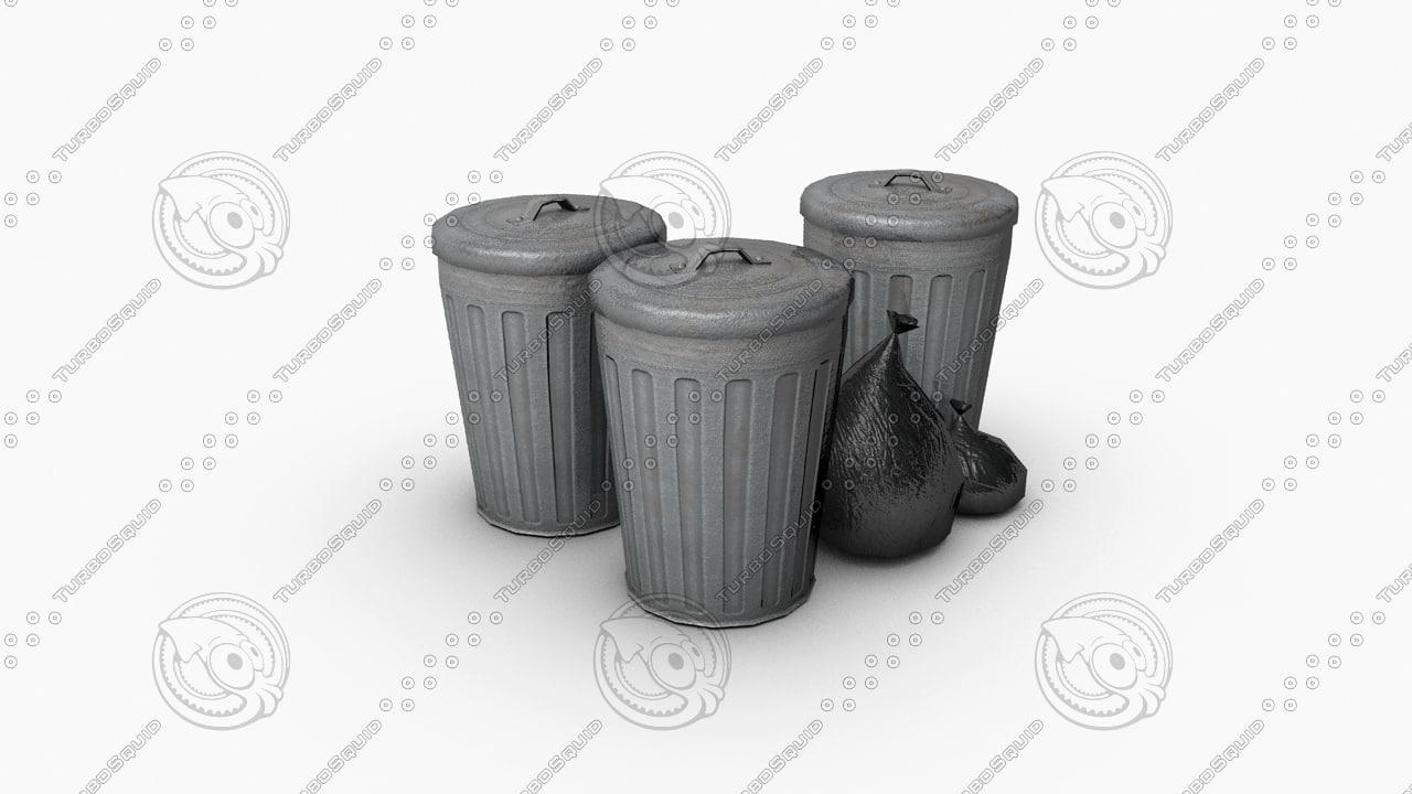 garbage bag obj