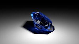 blue diamond 3d model