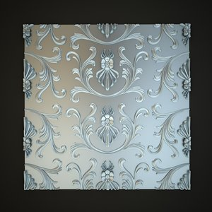 classical decoration wall panels 3d max