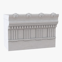 doric architrave frieze greco 3d max