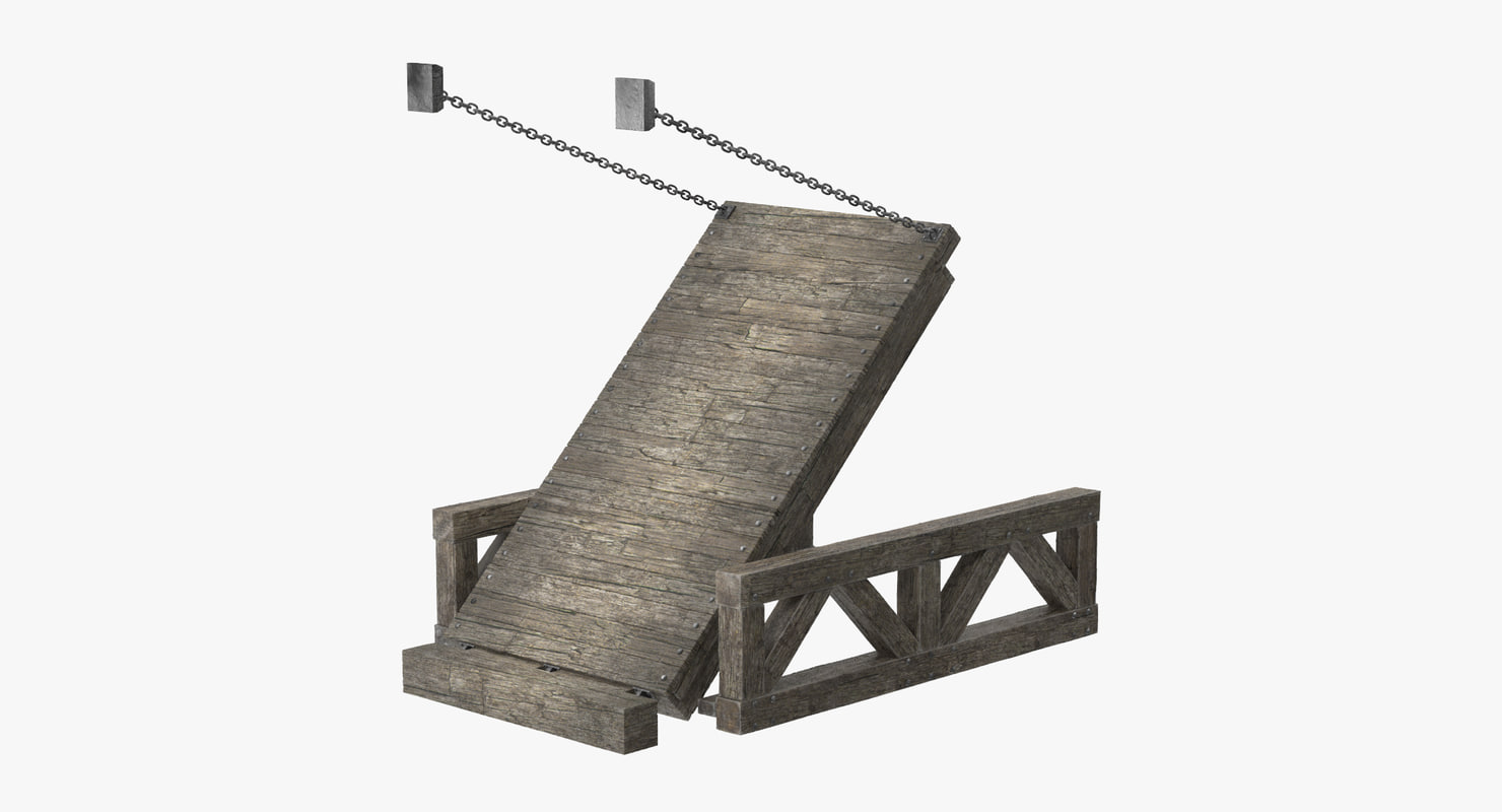 drawbridge 02 - 3d model