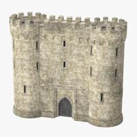 gatehouse portcullis 02 3d c4d