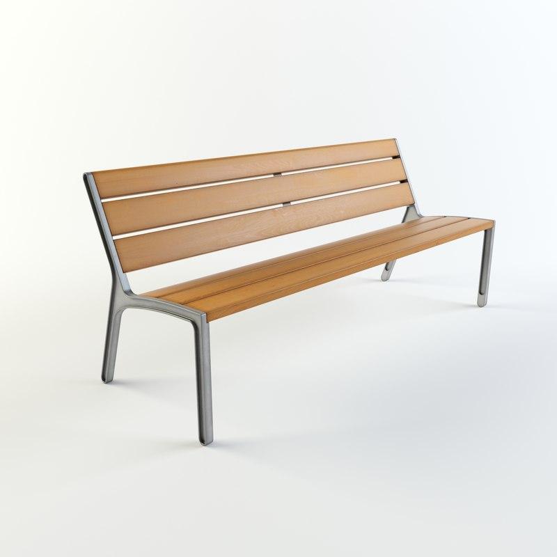 3d model miela park bench mmcite
