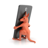 3d model printable kangaroo smartphone holder