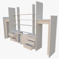 3d interactive kitchen bar counter