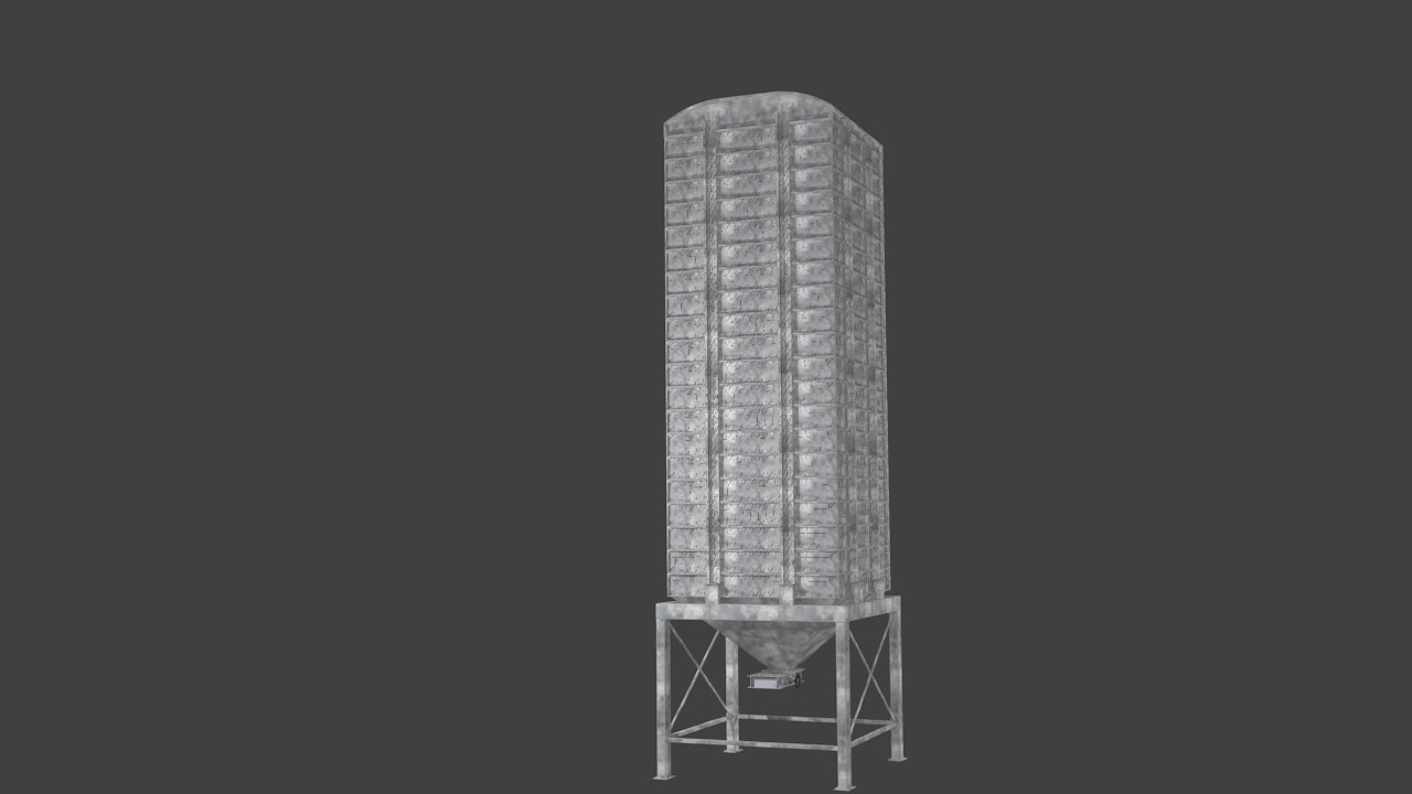 3d model square silo